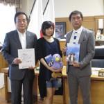 「ここさけ」水瀬いのり、埼玉県知事表敬訪問