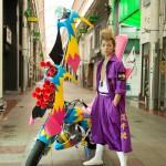 """DISH//の小林龍二が金髪リーゼントの特攻服姿に族車で""""一人宣伝特攻隊長""""!"""