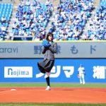 『ドラゴン桜』に出演の志田彩良がDeNA-巨人戦始球式に登板「思っていたよりも遠くに感じてドキドキした」