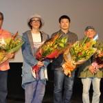 ロッテルダムから駆けつけたリリー・フランキーと坪田義史監督が沖縄プレミアに登壇